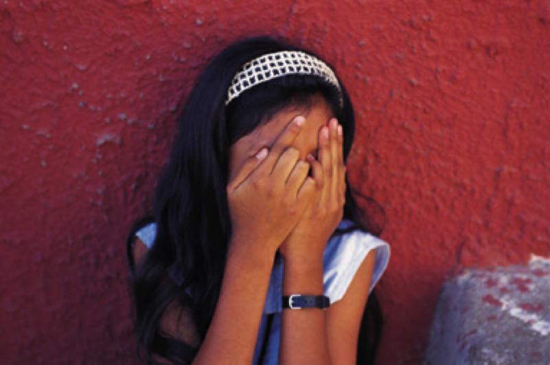 Hiding Face Girl